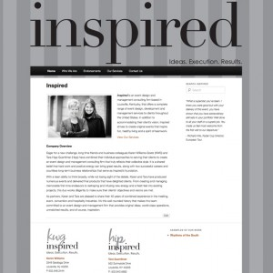 Contemporary Web Design and Website Redesign for Inspired