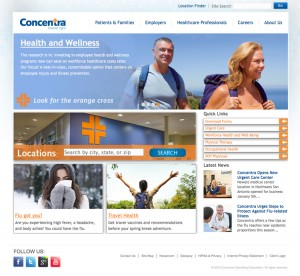 Concentra front-end user experience design