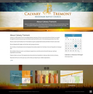 Contemporary Website Design for Calvary Tremont Baptist Church